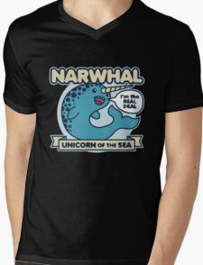 Narwhal Unicorn Of The Sea Mens V-Neck T-Shirt