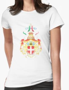 Italian Coat of Arms Italy Symbol Womens Fitted T-Shirt
