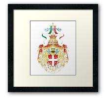 Italian Coat of Arms Italy Symbol Framed Print