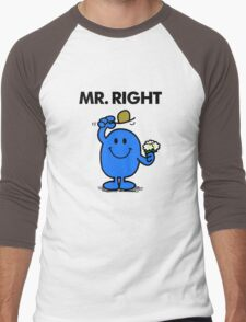 Mr Right Men's Baseball ¾ T-Shirt