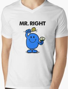 Mr Right Mens V-Neck T-Shirt
