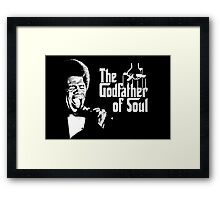 The Godfather of Soul - James Brown Framed Print