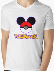PokeMouse Mens V-Neck T-Shirt