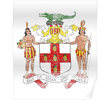 Jamaican Coat of Arms Jamaica Symbol Poster