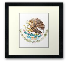 Mexican Coat of Arms Mexico Symbol Framed Print