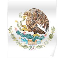 Mexican Coat of Arms Mexico Symbol Poster