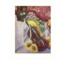 Violin Still Life Art Print