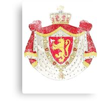 Norwegian Coat of Arms Norway Symbol Canvas Print
