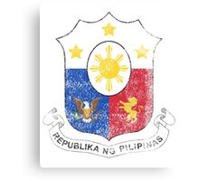 Filipino Coat of Arms Philippines Symbol Canvas Print