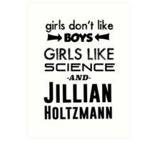 Girls Like Jillian Holtzmann - Black Art Print