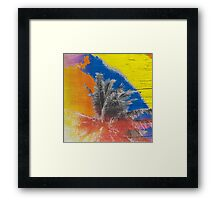 Coconut Tree Pop Art Retro Tropical Vintage Palm Framed Print