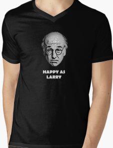 Happy as Larry  Mens V-Neck T-Shirt
