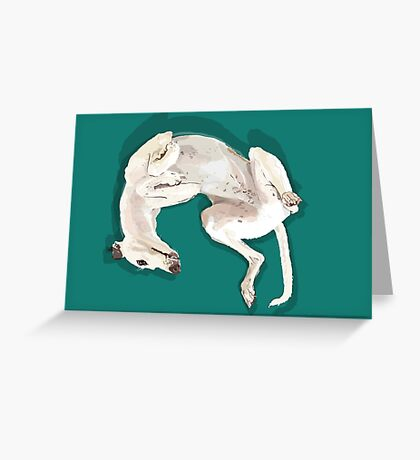 Willow Upside Green  Greeting Card