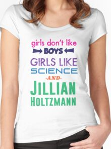 Girls Like Jillian Holtzmann - Multicolor Women's Fitted Scoop T-Shirt