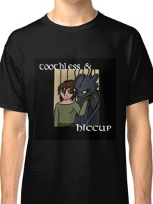 Hiccup and Toothless Black Classic T-Shirt