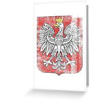 Polish Coat of Arms Poland Symbol Greeting Card