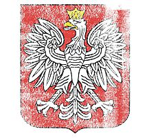 Polish Coat of Arms Poland Symbol Photographic Print