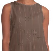 Wooden Planks Contrast Tank