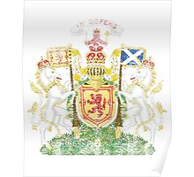 Scottish Coat of Arms Scotland Symbol Poster