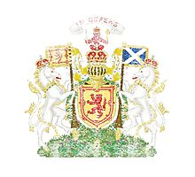 Scottish Coat of Arms Scotland Symbol Photographic Print