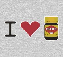 I Love Vegemite One Piece - Long Sleeve