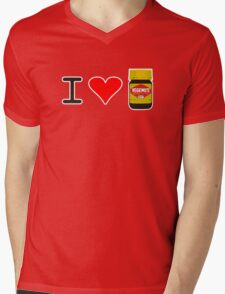 I Love Vegemite Mens V-Neck T-Shirt