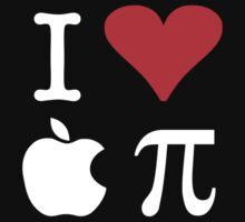 I Love Apple Pi One Piece - Short Sleeve