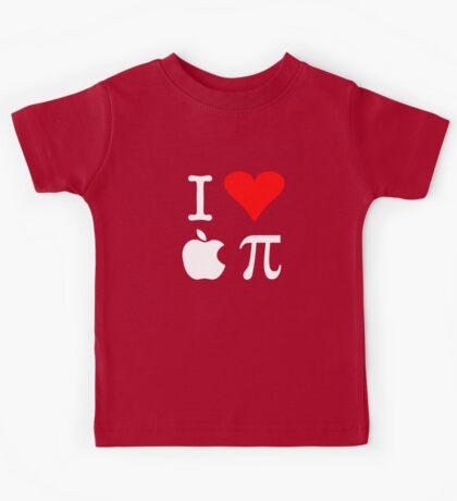 I Love Apple Pi Kids Tee