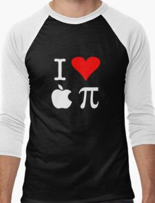 I Love Apple Pi Men's Baseball ¾ T-Shirt