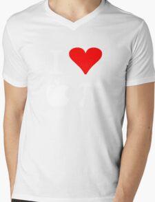 I Love Apple Pi Mens V-Neck T-Shirt