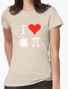I Love Apple Pi Womens Fitted T-Shirt