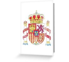 Spanish Coat of Arms Spain Symbol Greeting Card