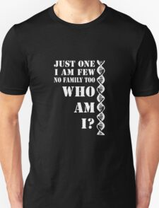 """Orphan Black - """"Just One"""" Riddle - White Text T-Shirt"""