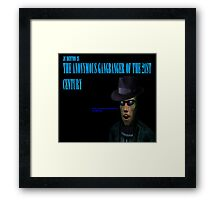 The Anonymous Gangbanger of the 21st century Framed Print