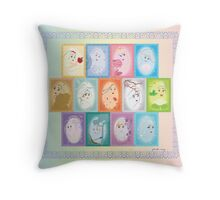 The Alluring Princesses Throw Pillow