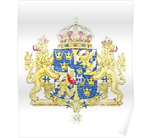 Swedish Coat of Arms Sweden Symbol  Poster