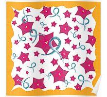 Ovarian Cancer Floral Design Poster