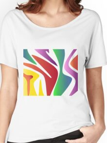 Wavy Rainbow Women's Relaxed Fit T-Shirt