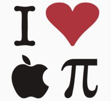 I Love Apple Pie - Alternative for light t-shirts Kids Tee