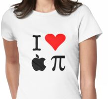 I Love Apple Pie - Alternative for light t-shirts Womens Fitted T-Shirt