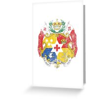 Tongan Coat of Arms Tonga Symbol Greeting Card