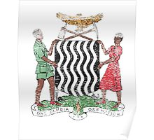 Zambian Coat of Arms Zambia Symbol Poster