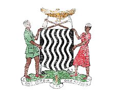 Zambian Coat of Arms Zambia Symbol Photographic Print