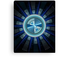 Abstract technology computer generated fractal  Canvas Print