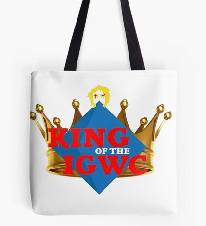 """JordanJoMo """"King of the IGWC"""" Tote Bag"""