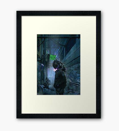 Palantor in a Street Framed Print