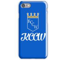 KCCW Backyard Wrestling Logo iPhone Case/Skin