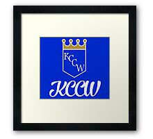 KCCW Backyard Wrestling Logo Framed Print