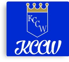 KCCW Backyard Wrestling Logo Canvas Print