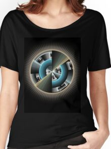 Abstract technology computer generated fractal  Women's Relaxed Fit T-Shirt
